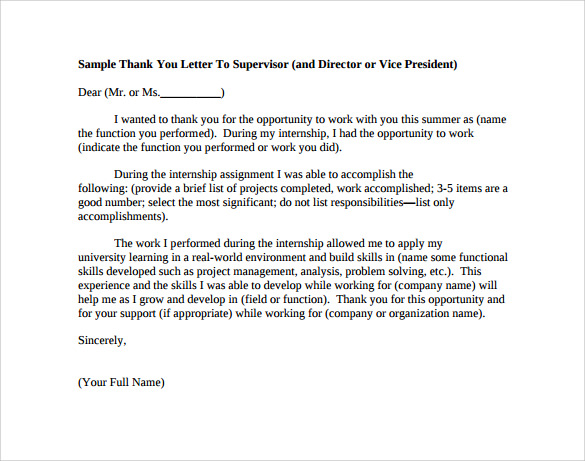 Professional Thank You Letter - 9+ Download Free Documents In Word