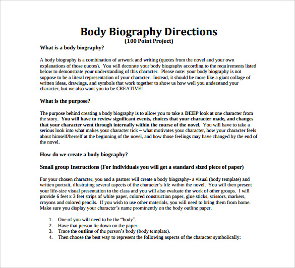 Biography Example Essay
