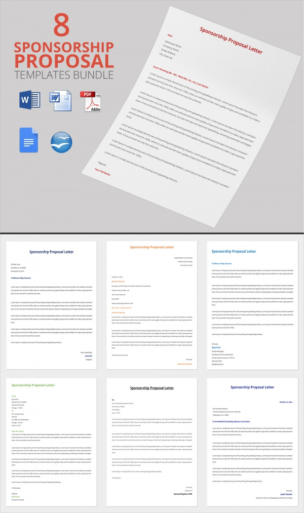Sample Sponsorship Proposal Template 15 Documents in PDF Word – Sponsorship Packages Templates
