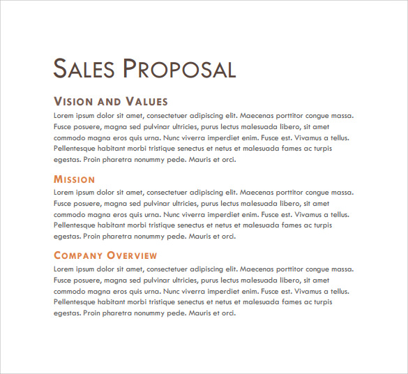 Sale Proposal Sample Dawaydabrowa