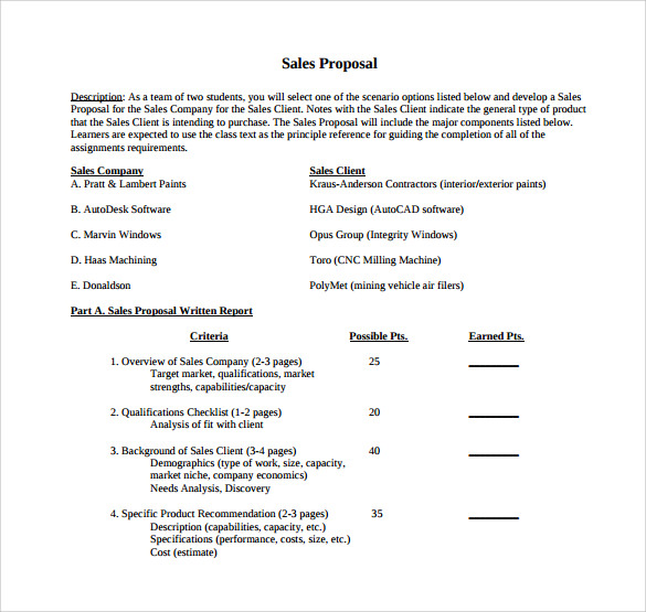 sales proposal templates examples