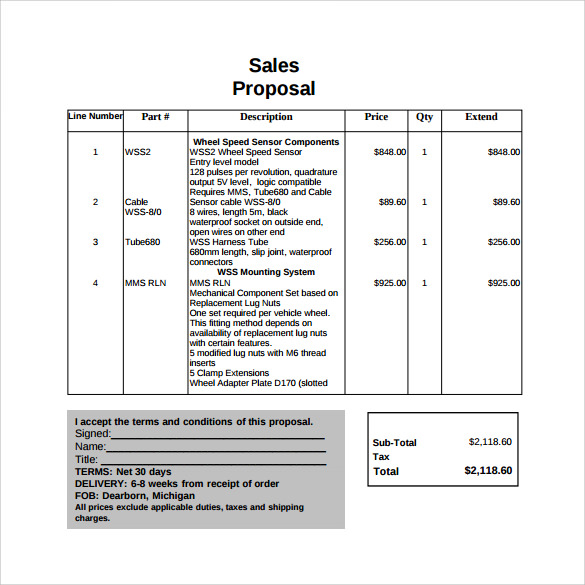 Sales Proposal Template - 13+ Download Free Documents in PDF, Word