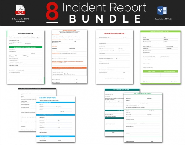 Sample Incident Report Template 16 Free Download