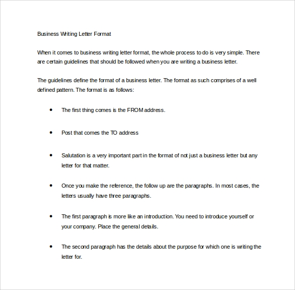 official letter writing examples