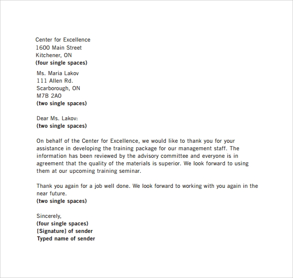 29 Sample Business Letters Format to Download | Sample Templates