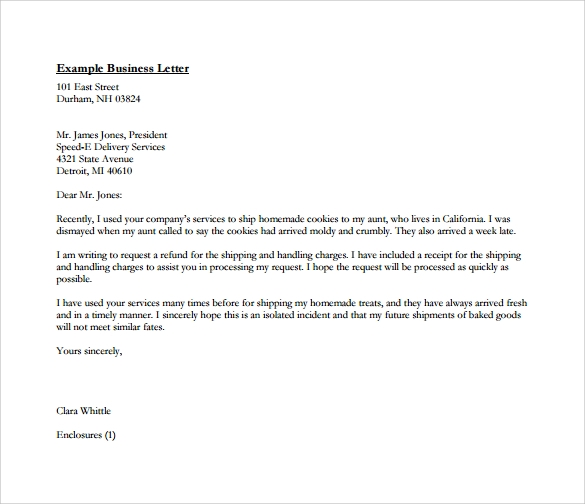Business Letters Format Free Download