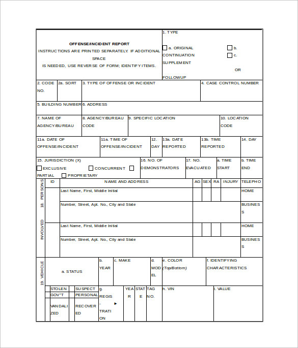 police report template word .