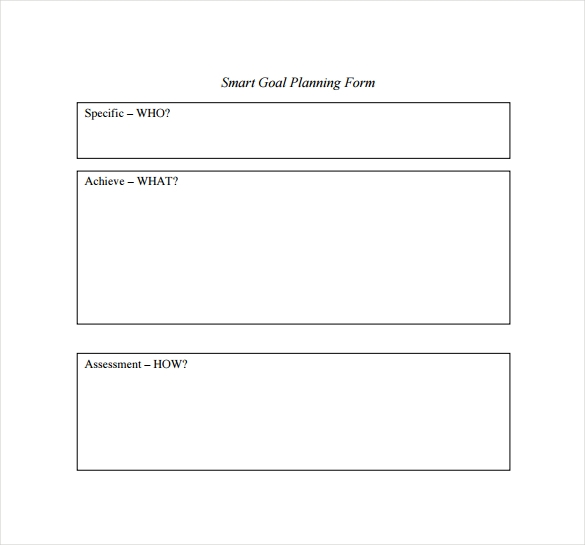 16 sample smart goals templates to download sample templates smart goal planning form template wajeb Choice Image