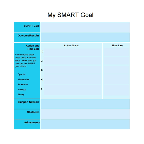Smart Goals Templates PDF on Printable Goal Worksheet Template Smart BZ5OzazU