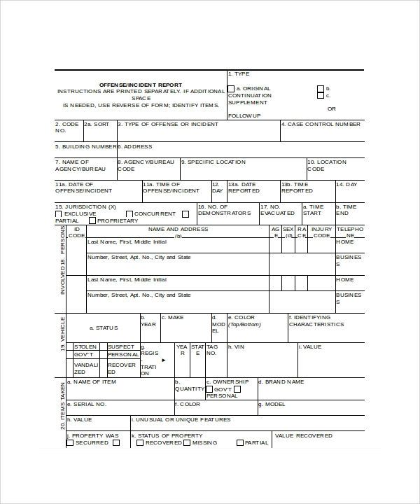 incident report template microsoft word .