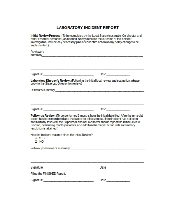 laboratory incident report1