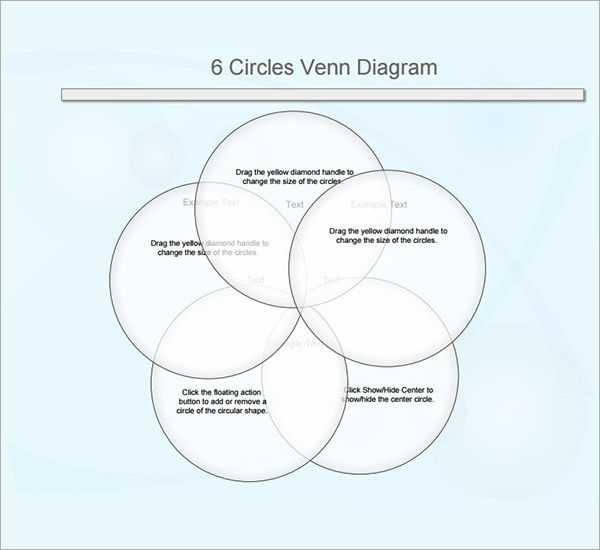 13 sample venn diagrams sample templates 6 circles venn diagram template ccuart Images