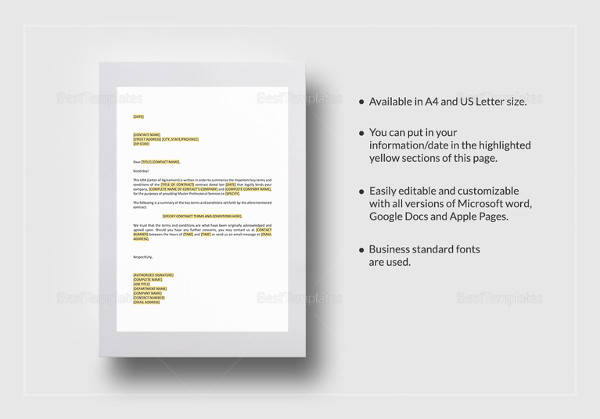 agreement master professional services agreement template