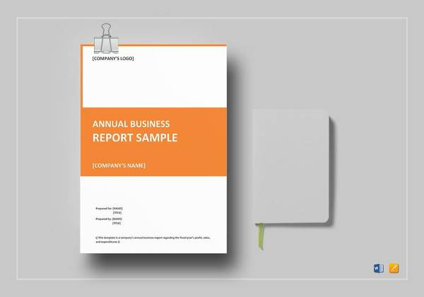 annual business report template to edit