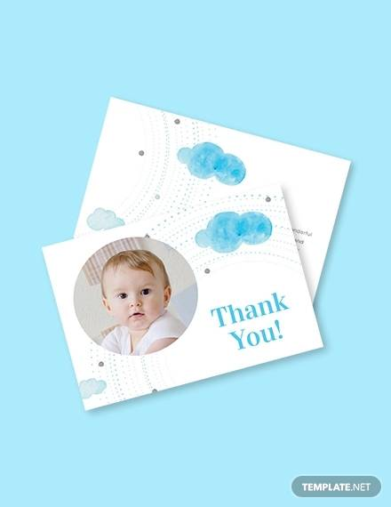 baby thank you card template