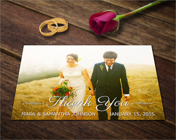 beautiful wedding thank you card