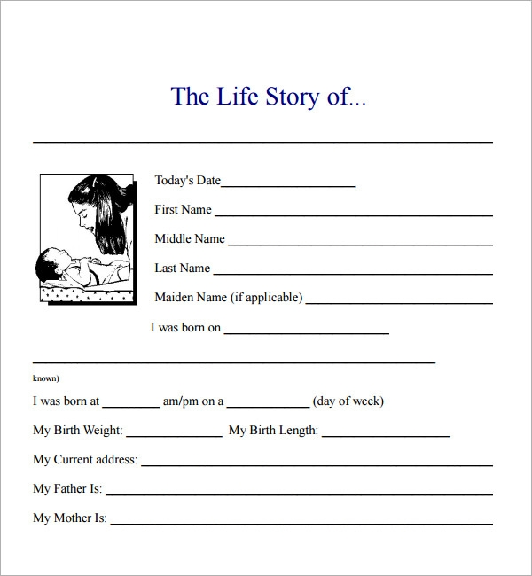 Biography Template For Word Biography Template Word