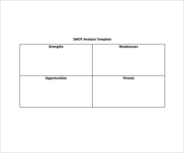 blank swot analysis template - 28 images - blank swot analysis ...
