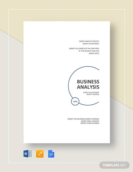 business analysis template2