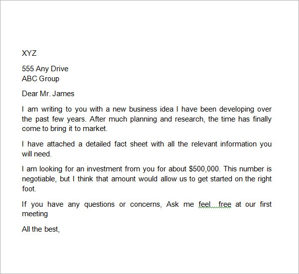 business proposal letter format