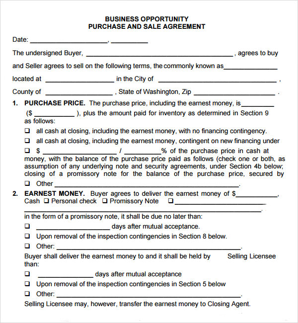 Doc575709 Sample Purchase Agreement for Business Business – Sample Purchase Agreement for Business