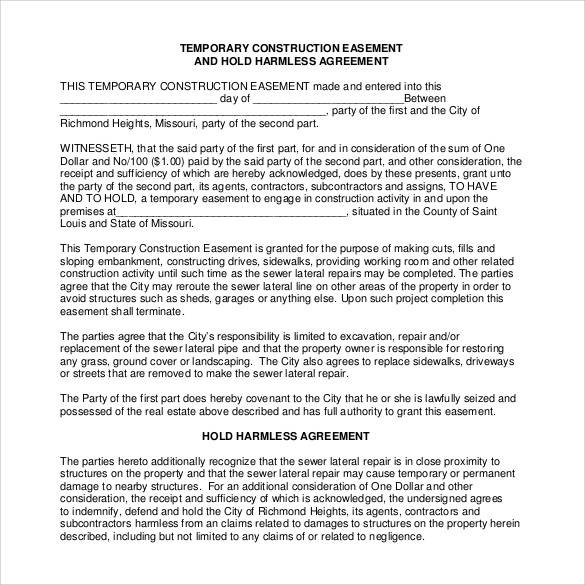 Hold Harmless Agreement 30 Download Documents In Pdf 9278439 Vdyufo