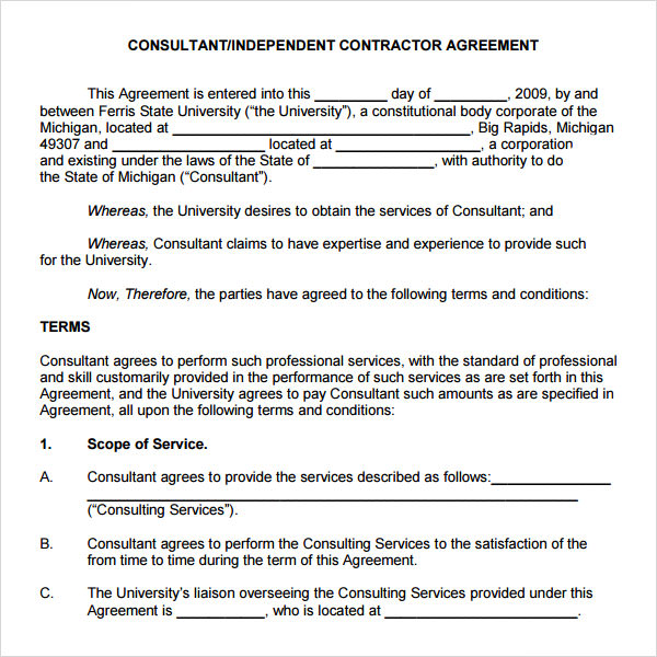 Retainer agreement 7 free pdf doc download for Consulting fee agreement template