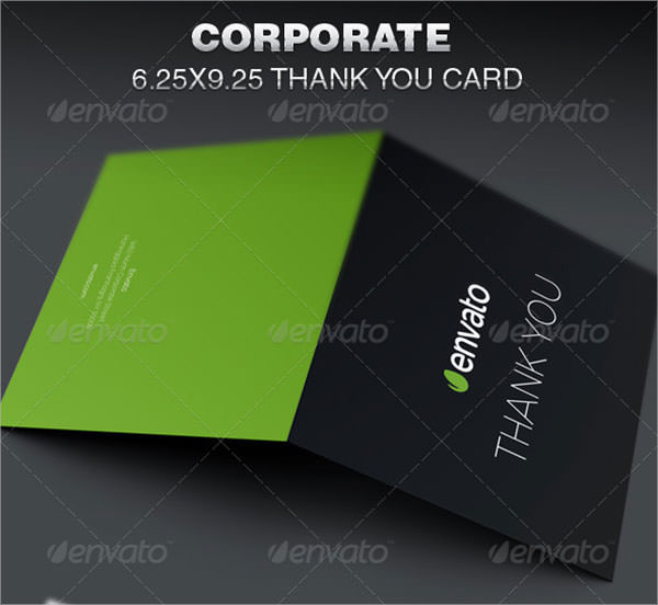 corporate thank you card template