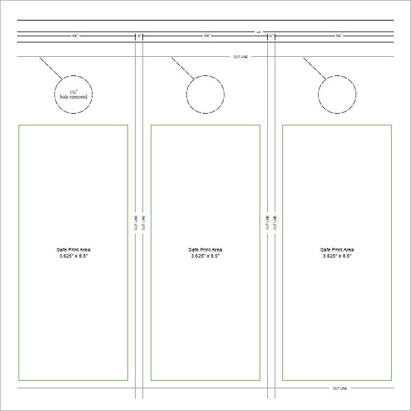 Elegant Door Hanger Template