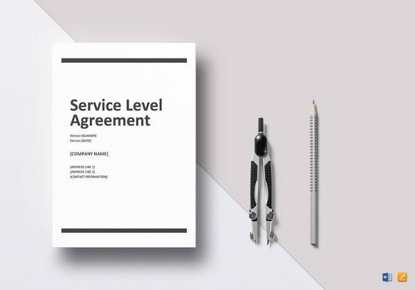 editable service level agreement template