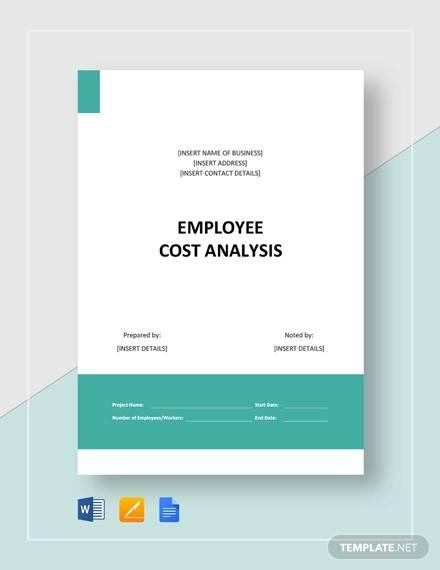 employee cost analysis template