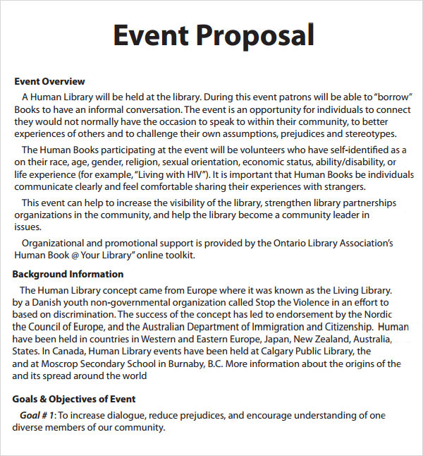 Event Proposal Template - 16+ Download Free Documents in PDF, Word