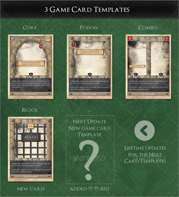 7 sample trading card templates