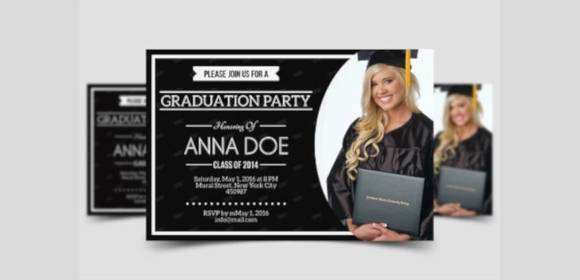 Free 11 Beautiful Graduation Invitation Templates In