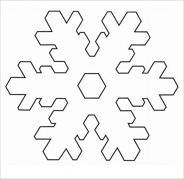 Snowflake Template – Clipart Free Download