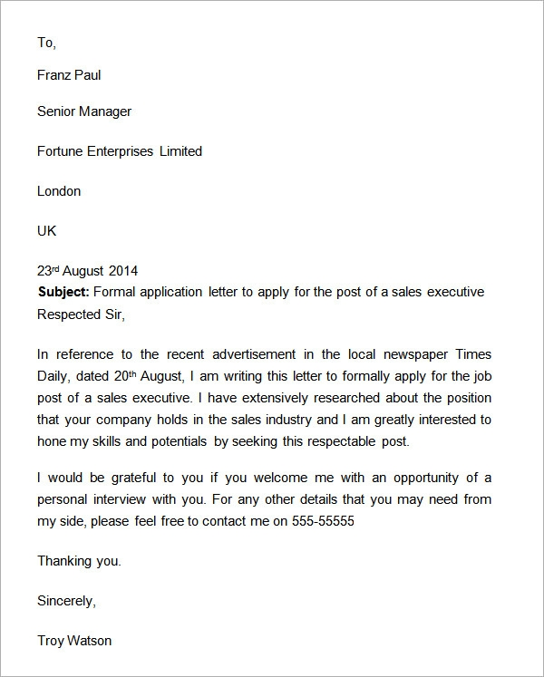 Marketing Letter for New Business