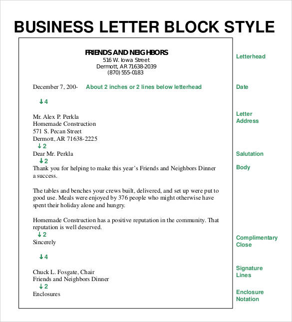 Formal business letter format 29 download free documents in word pdf formal business letter block style spiritdancerdesigns Gallery