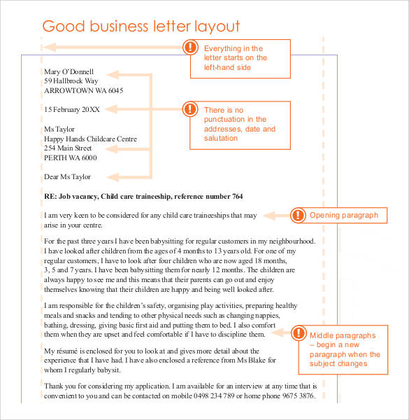 Formal Business Letter Layout