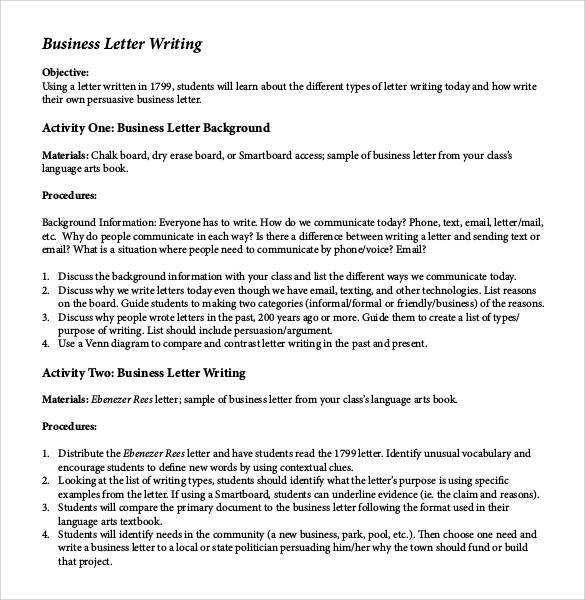 Formal Business Letter Format - 29+ Download Free Documents In