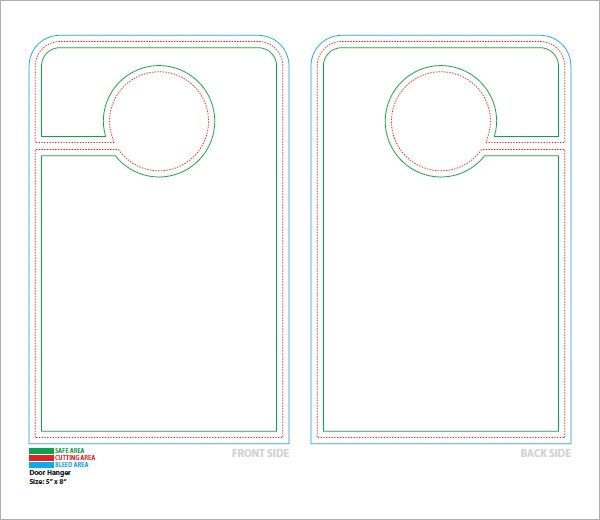 15 Door Hangers PSD Vector EPS PDF – Restaurant Door Hanger Template