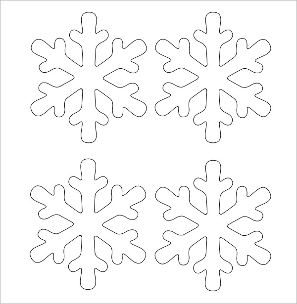 3d Snowflake Template Printable Free paper snowflake templates