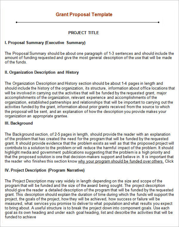 Grant Proposal Template   9  Download Free Documents in PDF Word RTF hGBcgSxd