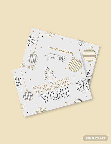 holiday thank you card template1