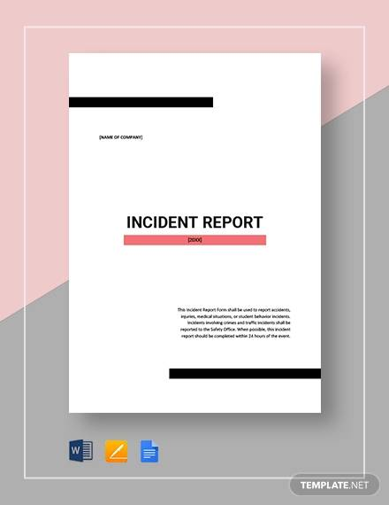 incident report