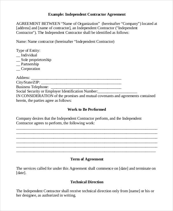 Sample Contract Agreement   Free Documents Download In Pdf Word
