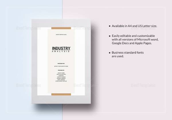 industry analysis template sample