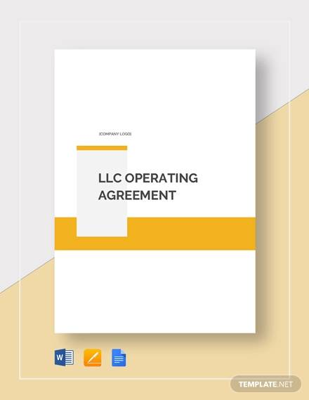 llc operating agreement template1