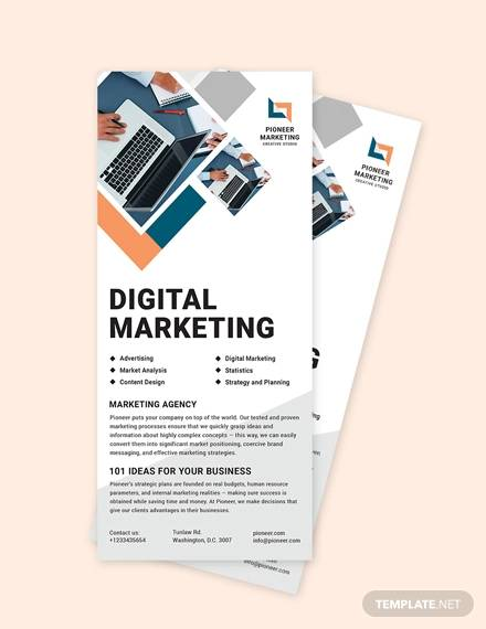 marketing agency rack card