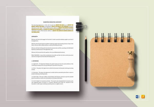 marketing consulting agreement template