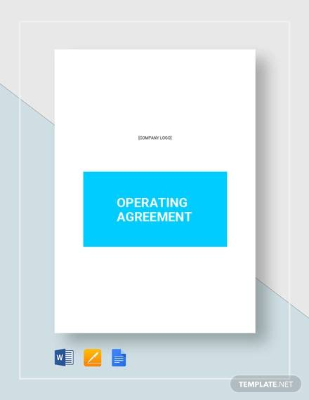 operating agreement template2